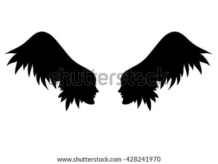 vector angel wings two