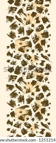 vector animal brush stroke