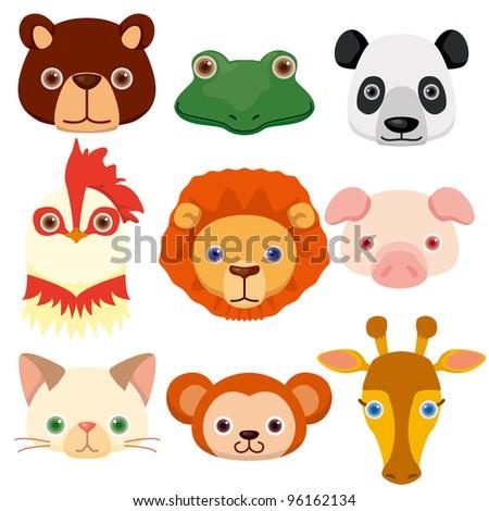 vector animal head icons