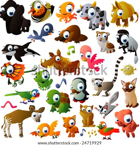 vector animal set - stock vector