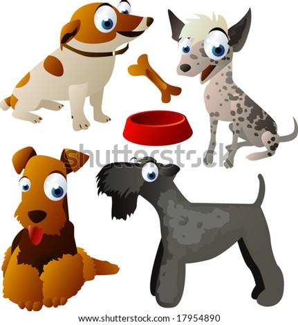 vector animal set 92: dogs