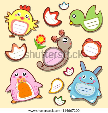 vector animals insect menu label tag
