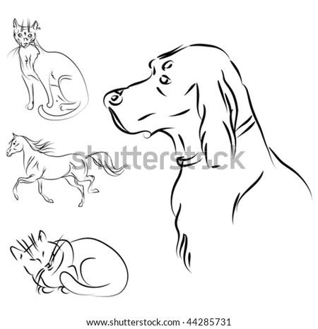 vector animals sketch