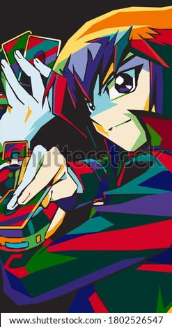 vector anime character style in