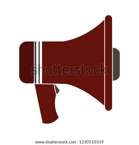 vector announcement megaphone isolated icon - audio loudspeaker illustration sign . sound volume sign symbol