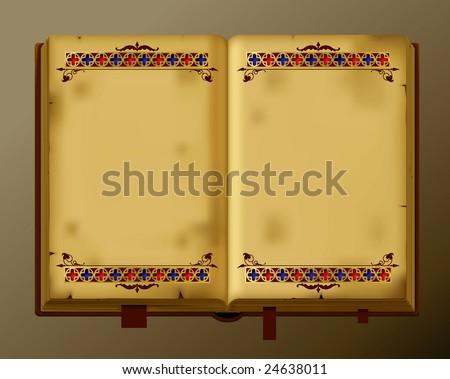 Vector antique book
