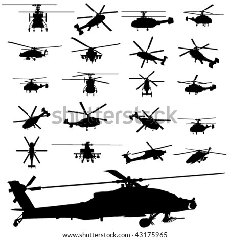 vector apache helicopter