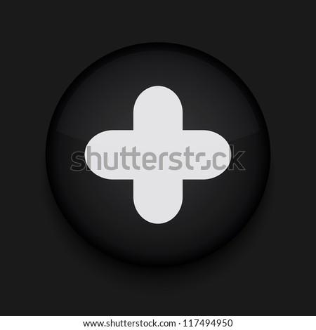 Vector app circle plus black icon. Eps10