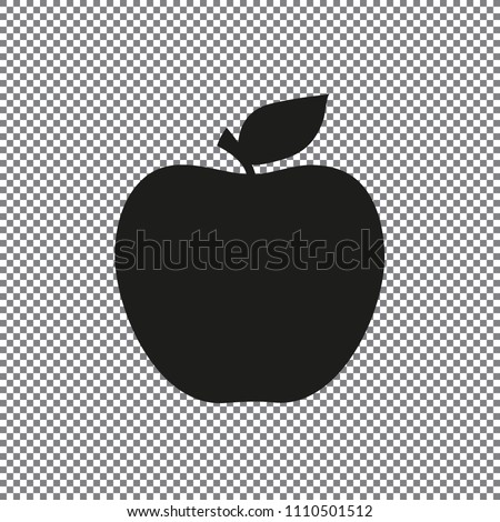vector apple icon on a