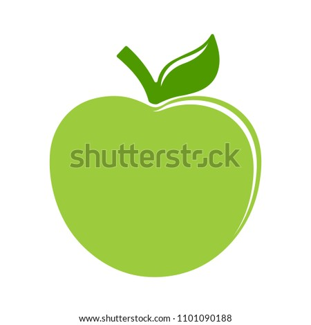 vector Apple illustration isolated - fresh healthy nature food - food icon