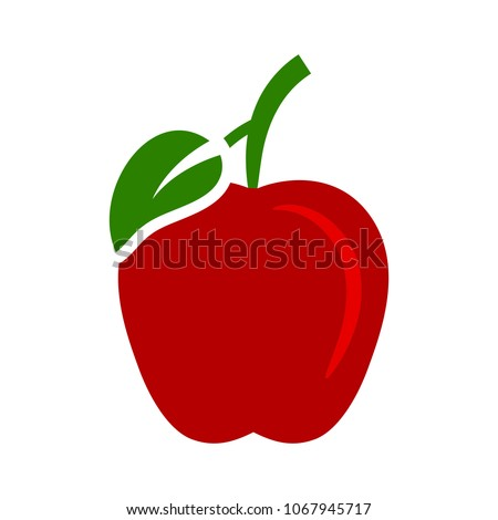 vector apple illustration isolated - healthy fresh fruit symbol, natural sign