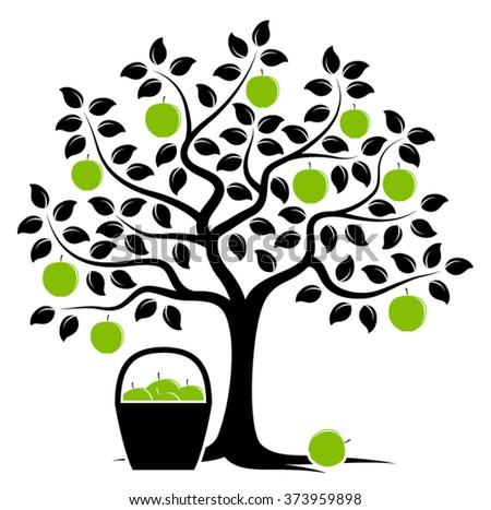 apple trees vector wallpaper | free vector art at vecteezy!