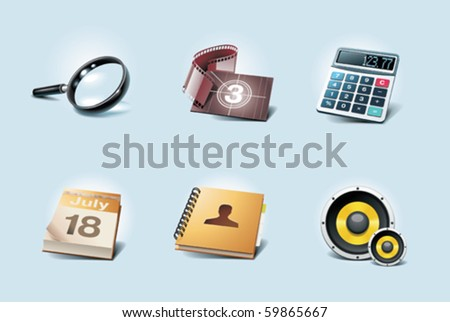 Vector application icons. Part 2 - stock vector