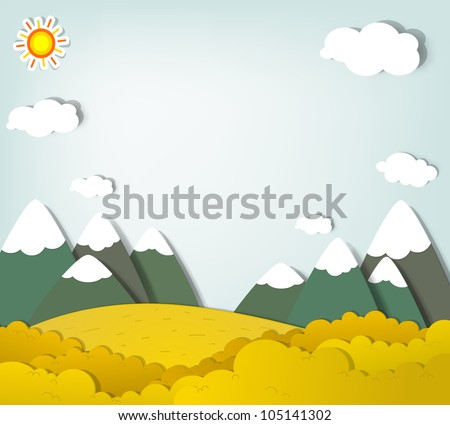 Vector applique. Mountain landscape