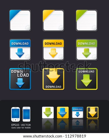 vector apps icon set/tablet & mobile phone app