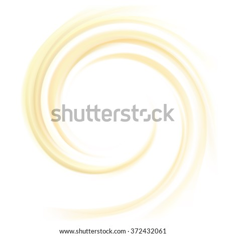 Vector aqua futuristic luxury yellow modern backdrop of soft shiny swirling rippled curvy texture. Closeup view with space for text in glowing center in middle of funnel