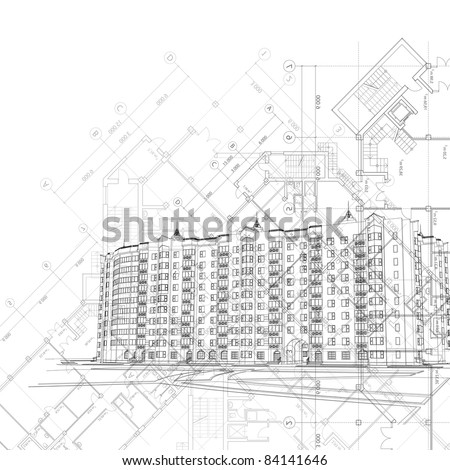 Vector architectural graphic background (see jpeg version in my portfolio)