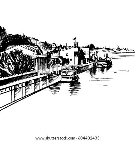 vector architectural sketch