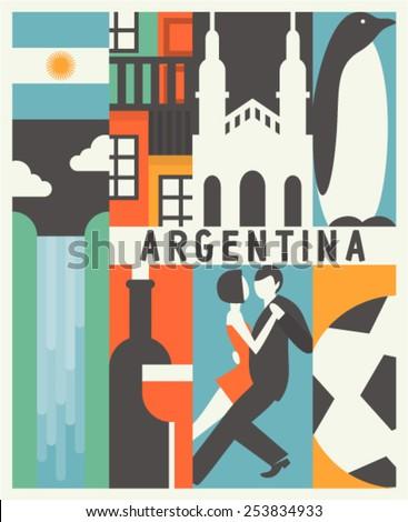 vector argentina background