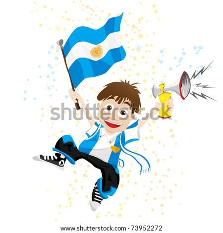 vector   argentina sport fan