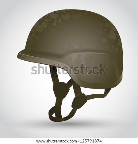 vector army helmet illustration