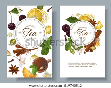 vector aromatic tea banners