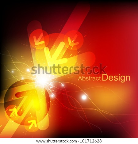 vector arrow abstract background