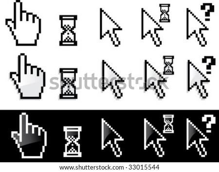 Vector arrow and hand cursor series