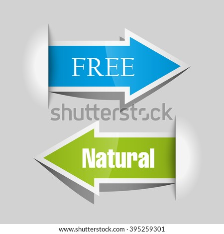 Vector Arrow banners set. Direct shape. 3d Abstract Background. Business infographic presentation diagram. Section compare service