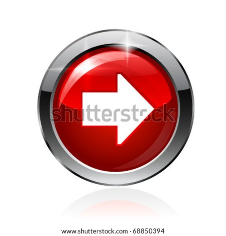 Vector arrow button. Vector