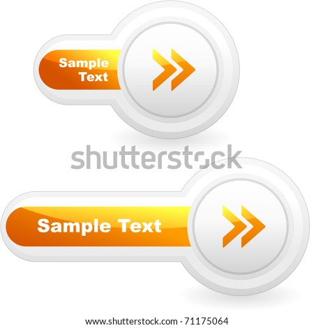 Vector arrow buttons for web. Next circle icon.