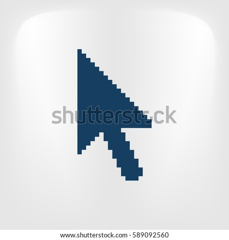 Vector arrow cursor stock icon illustration design