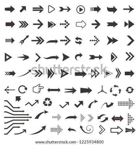 Vector arrow icon set #1225934800