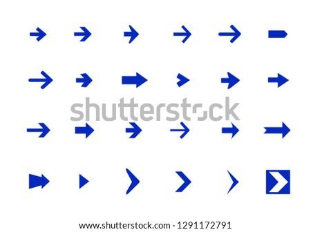 Vector arrow icon set