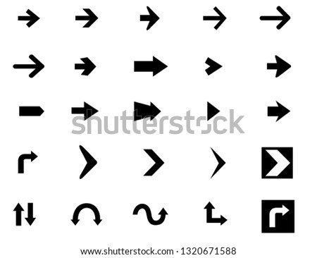 Vector arrow icon set #1320671588