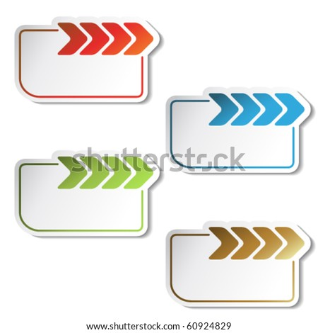 Vector arrow labels - stock vector