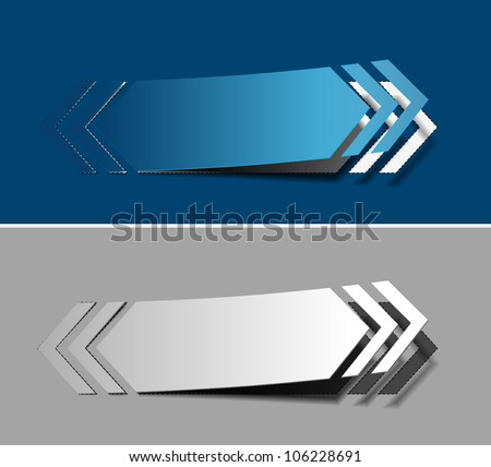Vector arrow labels design element.