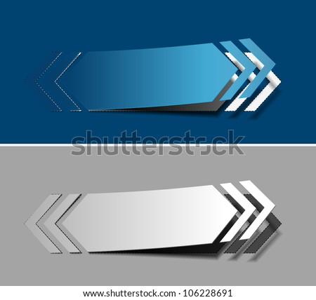Vector arrow labels design element. - stock vector