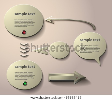 vector arrows and bubbles. EPS 10 - stock vector