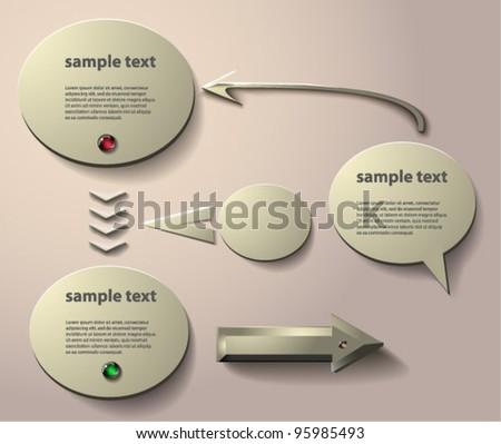 vector arrows and bubbles. EPS 10