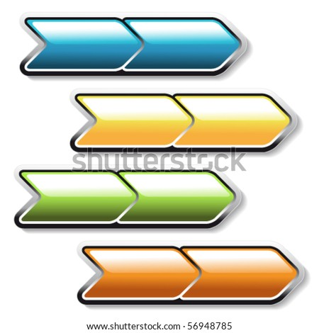 Vector arrows buttons
