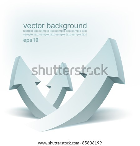 Vector arrows, logo design - stock vector