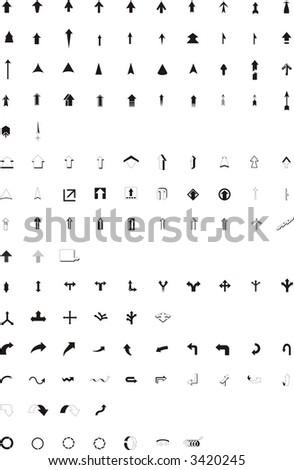 Vector arrows symbols.