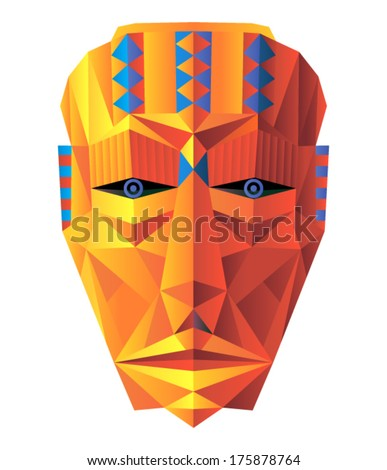 Vector art - african mask