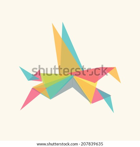 vector art colorful origami