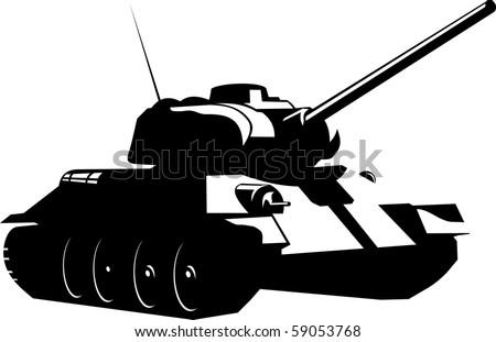 vector art of a battle tank