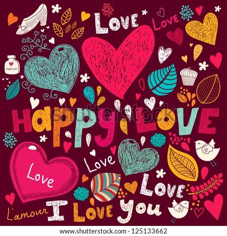 ShutterStock Vector art Valentine Greeting card 125133662