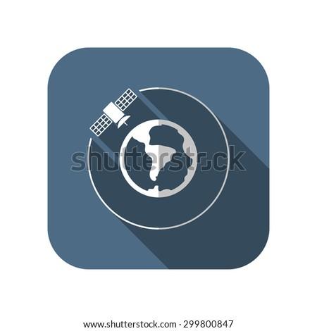 vector artificial satellite in