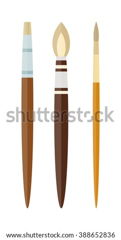 vector artist brushes isolated