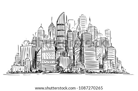 vector artistic sketchy pen and